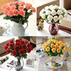 20/10 pcs Artificial Rose Flowers Fake Flowers Real Touch Wedding Silk Flowers