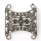 20/100pcs 144998 Flowers Hollow Plated Antique Silver Alloy Connectors Pendants