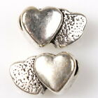 30/150pcs 151921 Hot Heart Antique Silver Alloy Charms European Beads Bracelets