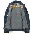 Young Man Boys Men's Short Winter Coat Jean Denim Jackets Outerwear Tops Parka
