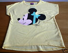 GIRLS DISNEY MINNIE MOUSE T-SHIRT - SHORT SLEEVES - YELLOW - NEW