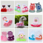 New Summer Pet Dog Cat Tutu Lace Dress Apparel Sailor Shirt Princess Party Dress