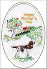 English Springer Spaniel Mothers Day Card Embroidered by Dogmania