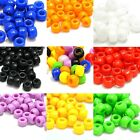 Lot of 100 9mm x 6mm Plastic Acrylic Pony Crow Barrel Hair Beads With Large Hole
