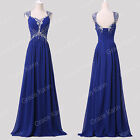 FREE SHIP Prom Dresses BEADED Bridesmaid Party Gown Evening long Dress PLUS SIZE