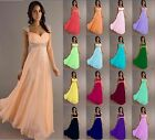New Stock Chiffon Evening Formal Party Ball Gown Prom Bridesmaid Dress Size 6-18