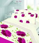 Printed Flannelette Quilt/Duvet Cover Set With Pillow Cases