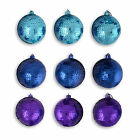 Set Of Three Metallic Sequin Hanging Christmas Bauble Tree Decorations 3 Colours