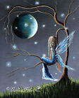 Beautiful World Of Fairies FINE ART PRINT pretty sky moon fantasy wall artwork