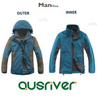 Premium Fashion Men Outdoor Climbing Hiking Sport Travel Ski Jacket Coat Blue