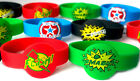SUPERHERO✜WRISTBANDS 4 FOR £3.99  OR 8 FOR £4.99✜STOCKING PARTY BAG FILLERS✜BOYS