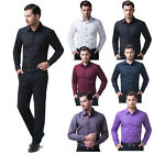 2015 NEW ARRIVAL ❤ Mens Long Sleeve Shirt Men Dress Shirts Slim Fit Casual Shirt