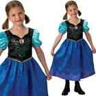 Kids Licenced Anna Frozen Fancy Dress Costume - Girls Disney Princess Outfit