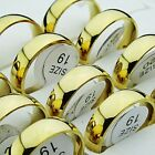 316L Stainless steel Comfort Fit Plain Women Mens Gold Ring Wedding Engagement