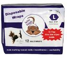 Dog Diapers Belly Bands Disposable for Male Dogs by Wiki Wags - XS,  S,  M & L
