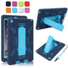 Kids Shock Proof Hybrid Rubber Heavy Duty Case Stand Cover for Apple iPad