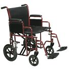 DRIVE Heavy Duty Wide Bariatric Transport Chair Wheelchair 20? or 22? Seats