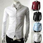 Black/White /Blue/Red ❤ S/M/L/XL Men's Casual Shirt Dress Shirts T Shirts Tops