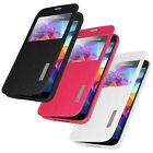FLIP CASE COVER WITH SWIPE WINDOW MEDIA STAND FOR SAMSUNG GALAXY S5 SM-G900