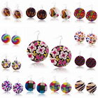 Big Round Shell Butterfly Flower Owl Ear Jewelry Cocktail Dangle Hook Earrings