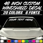"48"" CUSTOM VINYL WINDSHIELD BANNER Lettering Decal Name Sticker Window Tattoo"