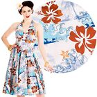 Hell Bunny Tiki 50's Dress Rockabilly Pin Up Tropical Retro Vintage 40s Party