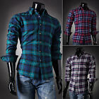 Hot!! S,M,L,XL Men's Check Shirt Lumberjack Work Wear Long Sleeve Casual Shirts
