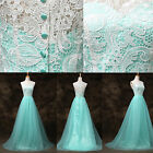 Sexy Women Applique Long Lace Vintage Long Bridesmaid Evening Bridal Gown Dress