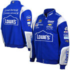 2015 Jimmie Johnson Lowe's Mens Royal Twill Authentic Nascar Jacket-JH Design