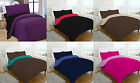 Polycotton Complete 4 Piece Reversible Quilt Cover Set, Fitted Sheet Pair Pillow