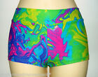 Shorts Hotpants Multi Color Lycra Kids Size 10 Dance Gym Calisthenics