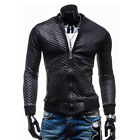 Crazy Sale Mens Motor Lover PU Leather Jackets Slim Fit Black Spring Jacket Tops