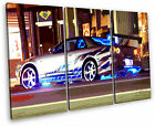 The Fast and Furious Car Framed Canvas Wall Art Picture Multi 3 Panel Split