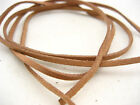 brown Leather Cord strong Suede Lace velvet Thread DIY Bracelet findings