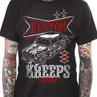 Kustom Kreeps Garage Men's T-Shirt Rockabilly Hot Rod Kulture Flames Retro