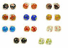 1 x Pair of Gorgeous 8mm Millefiori Glass Dome Stud Earrings Handmade