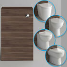 Modern Bathroom Walnut Cistern Unit & Ceramic Back To Wall Toilet Gloss White WC