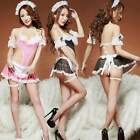 Sexy Womens Halter Maid Costume Lace Lingerie Underwear Sleepwear Set Hot ItS7
