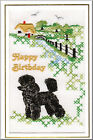 Poodle Birthday Card Embroidered by Dogmania  - FREE PERSONALISATION