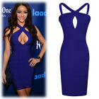 Celebrity Sexy Womens Cross Hollow Bodycon Bandage Clubwear Party Sheath Dress