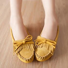 Women Girls Breathable Flats Casual Tassel Shoes Slip-on Bow Shoes XWD720
