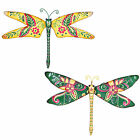 Tropical Design Metal Garden Dragonfly Wall Art Ornament - Two Colours Available