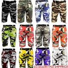 Men's BTL CAMOFLAUGE ARMY Cargo Shorts CAMO SHORTS Cotton Twill With Belt 32~42