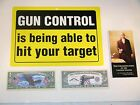 "Choice Of 7 Awesome Gun Signs,12x8.5"", Pocket Constitution, $1,000,000 Bill, 2nd"