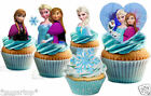 30 LARGE Disney Frozen STAND UP Anna Elsa & CUT Snowflakes Edible Cake Toppers