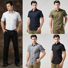 S M L XL New Mens Slim Casual Polo Shirt Designed Short Sleeve T-shirt Tops Tee