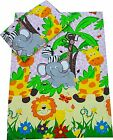 Cot/Cot Bed Bedding set Duvet cover+Pillowcase Baby, Toddler, Junior PINK ZOO