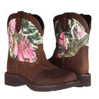 Justin Ladies Gypsy Aged Bark/Pink Camo Boot L9610 New