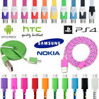 Plastic Braided Micro USB Charger Cable Lead for Android Phone SAMSUNG SONY PS4