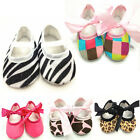 1 Pair 0-18M Baby Toddler Girl Child Soft Sole Bow Cotton Crib Sweet Shoes